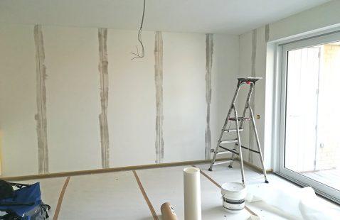 Schilder & Vliesbehang van living en badkamer